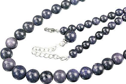 Design 14862: blue goldstone necklaces