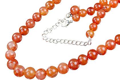 Design 14866: orange carnelian necklaces