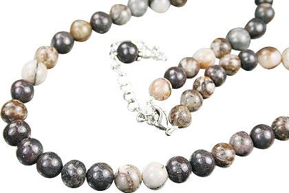 Design 14872: black jasper necklaces