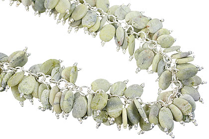 Design 15007: green jasper cha-cha necklaces