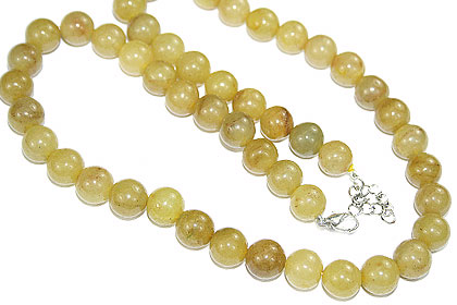 Design 15149: yellow aventurine necklaces