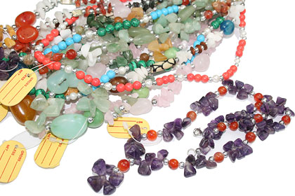 Design 15264: multi-color bulk lots necklaces