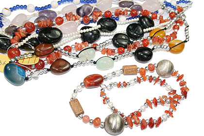 Design 15265: multi-color bulk lots necklaces