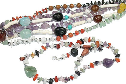 Design 15267: multi-color bulk lots necklaces