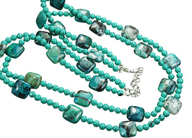 Design 15546: green turquoise necklaces
