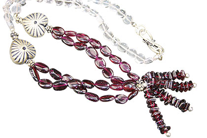 Design 15623: red,white crystal necklaces