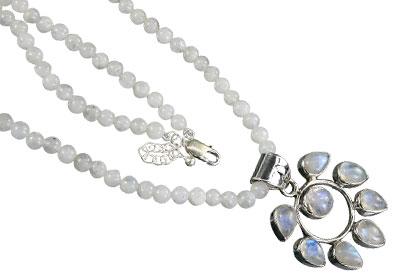 Design 16419: white moonstone necklaces