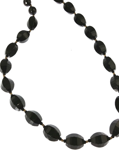 Design 20466: black,gray onyx classic necklaces