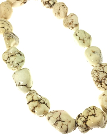 Design 20471: white howlite necklaces