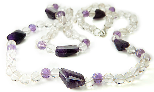 Design 21199: purple,white amethyst necklaces