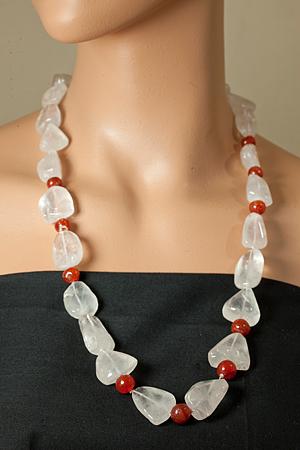 Design 21200: pink rose quartz necklaces