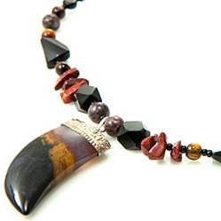 Design 21210: multi-color multi-stone necklaces
