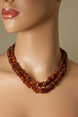 Design 21212: brown amber necklaces