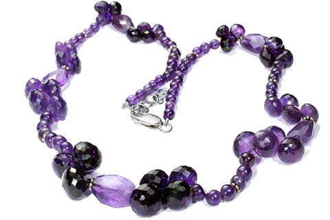Design 9234: purple amethyst necklaces