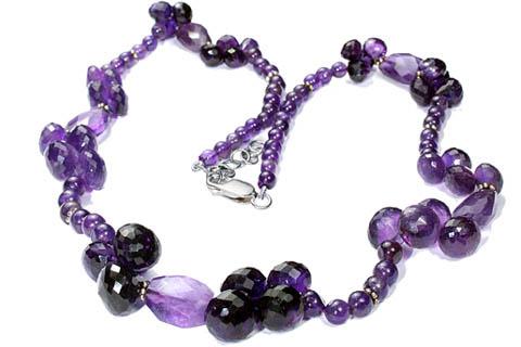 Design 9234: purple amethyst necklaces