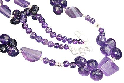 Design 9238: purple amethyst necklaces