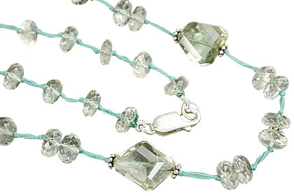 Design 9286: green green amethyst necklaces