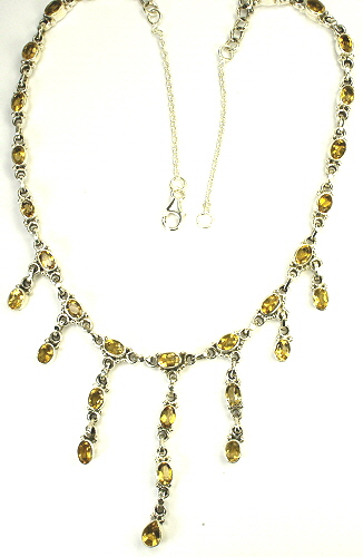 Design 9490: yellow citrine necklaces