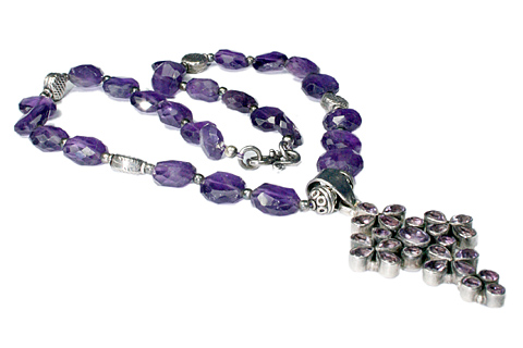 Design 9506: purple amethyst christian, cross necklaces