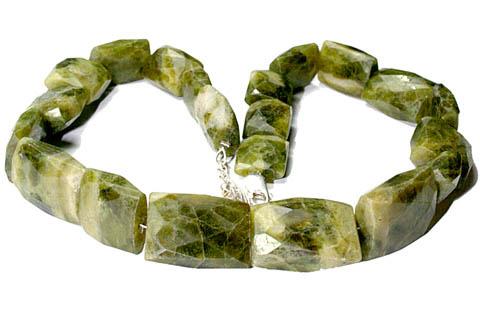 Design 9659: green vasonite christmas necklaces