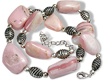 Design 9692: pink pink opal chunky necklaces