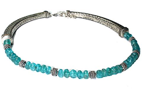 Design 9726: blue fluorite choker, ethnic necklaces