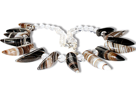 Design 9759: black,white onyx choker necklaces