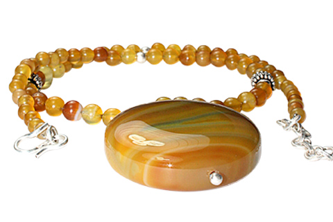 Design 9773: Yellow onyx ethnic necklaces