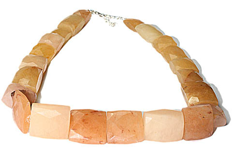 Design 9792: brown jade chunky necklaces