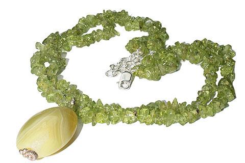 Design 9821: green,yellow peridot pendant necklaces