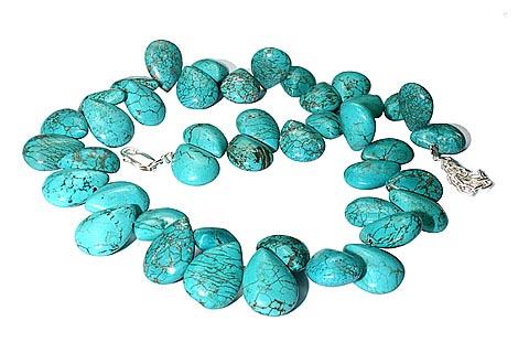 Design 9871: Blue turquoise contemporary, drop necklaces