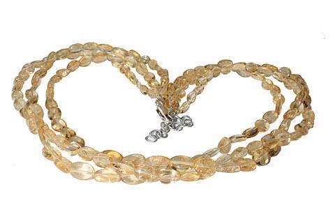 Design 9882: yellow citrine contemporary, multistrand necklaces