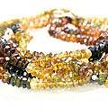 Design 12499: multi-color tourmaline multistrand necklaces