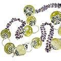 Design 14110: green,purple,yellow amethyst necklaces