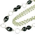 Design 14111: black,green peridot necklaces