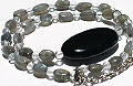 Design 15730: black,gray,multi-color onyx necklaces