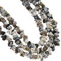 Design 16412: black,brown,white dendrite opal multistrand necklaces