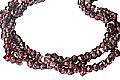 Design 9861: Maroon garnet contemporary, engagement, multistrand necklaces