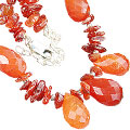 Design 9963: orange carnelian chipped, contemporary necklaces