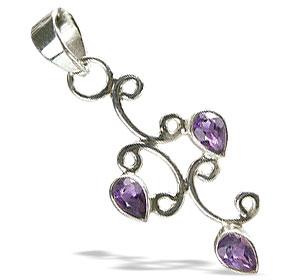 Design 10027: purple amethyst brides-maids pendants