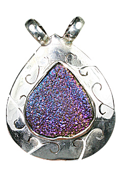 Design 10049: blue,green drusy drop pendants