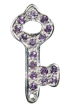 Design 10060: purple amethyst key pendants