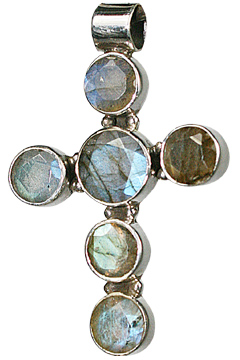 Design 10067: blue,green,gray labradorite christian, cross, religious pendants