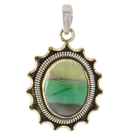 Design 10068: Brown, Purple, Green jasper pendants