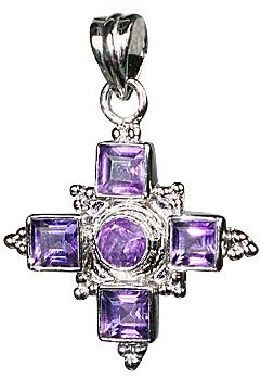 Design 10126: purple amethyst cross pendants