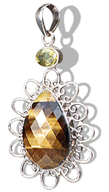 Design 10147: brown,yellow tiger eye drop pendants
