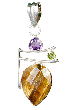 Design 10149: brown,green,purple tiger eye drop pendants
