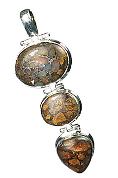 Design 10163: brown jasper drop pendants