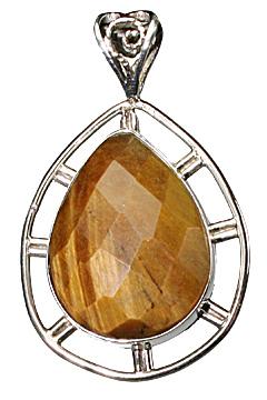 Design 10178: brown tiger eye drop pendants