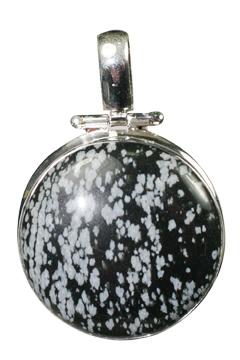 Design 10182: black,gray obsidian pendants